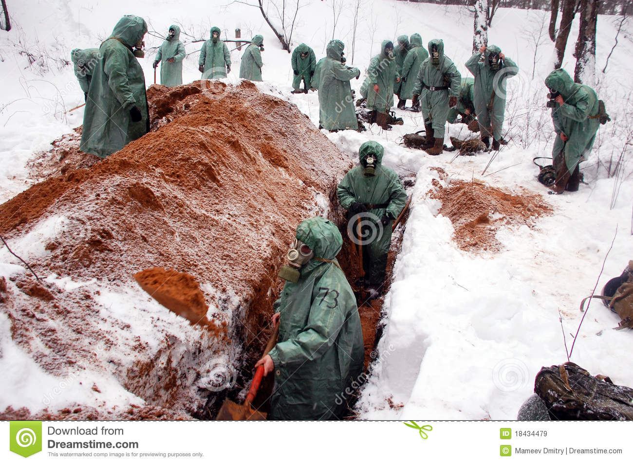 Digging a trench editorial stock image  Image of biochemical