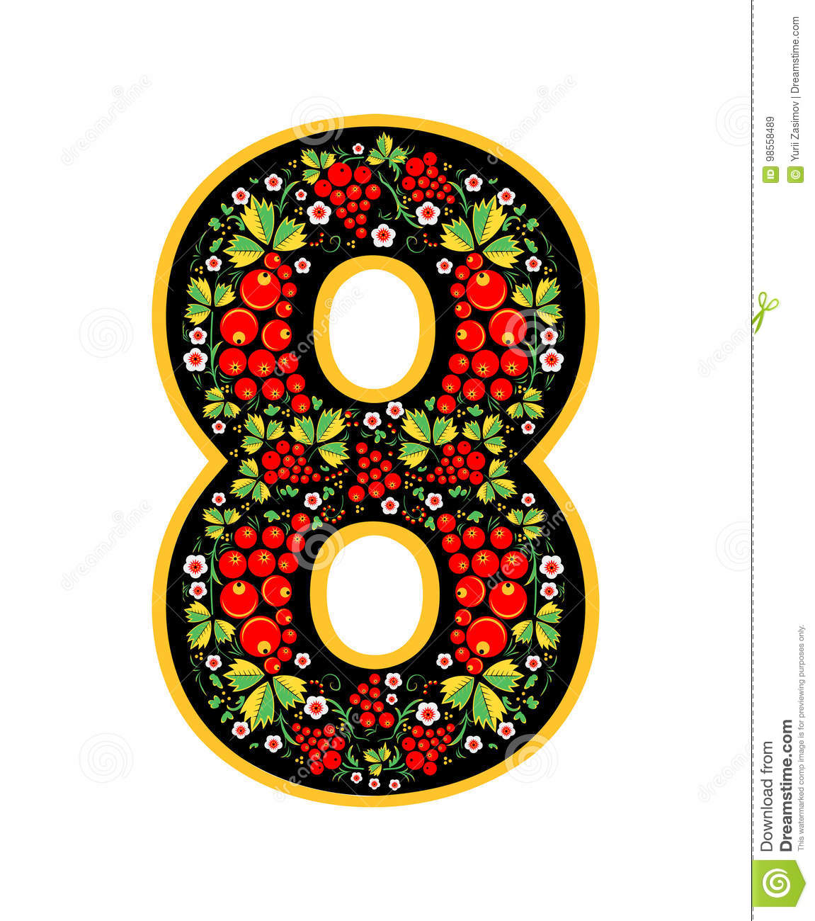 8 Digit Characterin The Russian Style  The Style Of