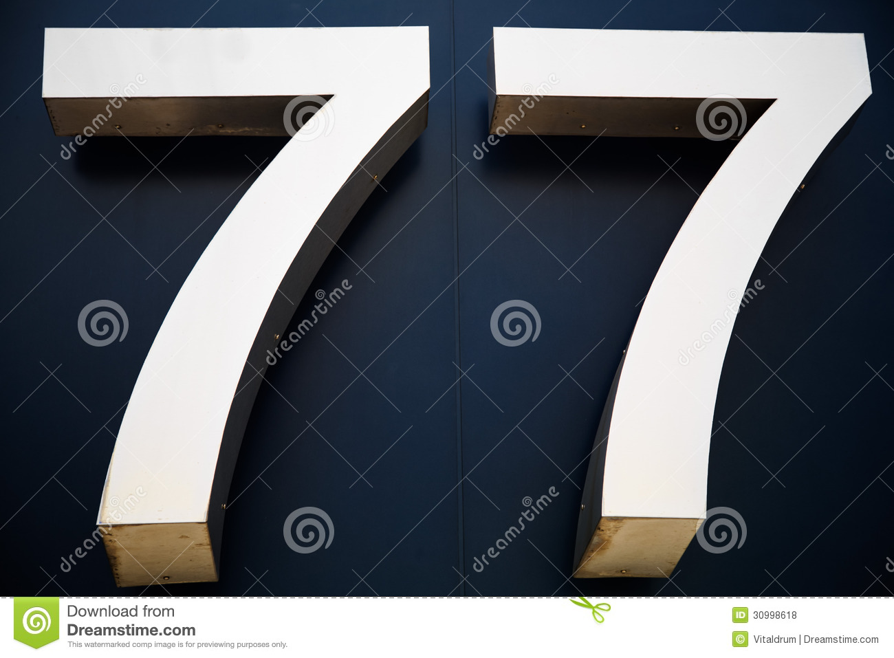 Digit Number 77 Stock Photo Image Of Address Font