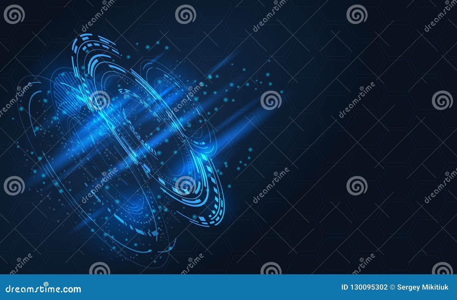 Digitaal futuristisch gebruikersinterface, HUD voor app en Web