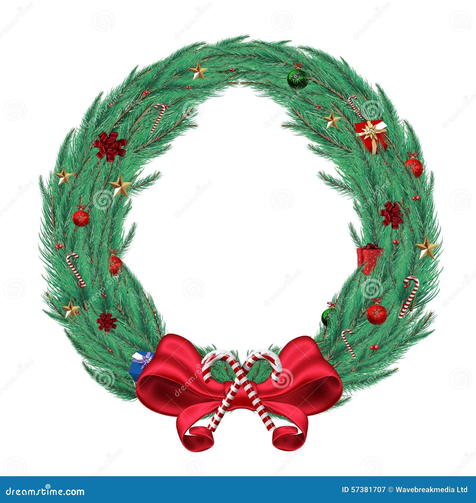 Digitaal geproduceerde groene Kerstmiskroon
