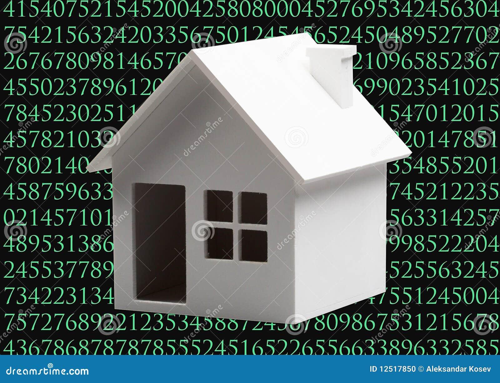 digitaal huis stock foto afbeelding bestaande uit