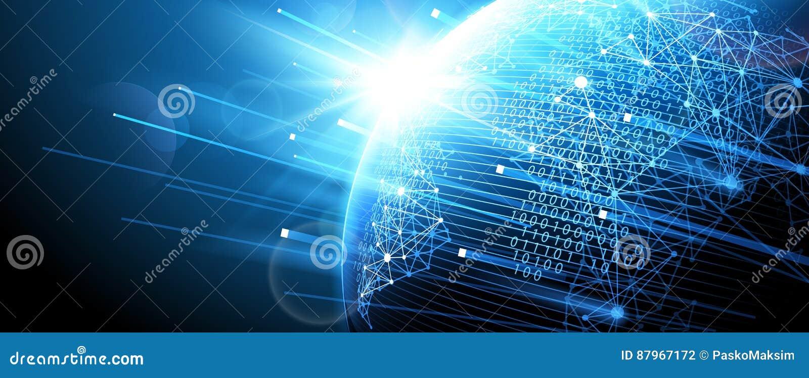 Digitaal netwerk Vector