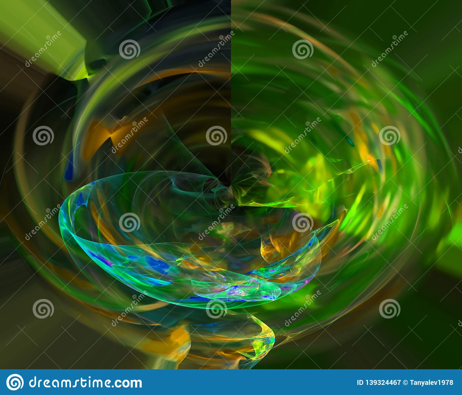 Digital abstract fractal curve overlay shape decoration dynamic energy