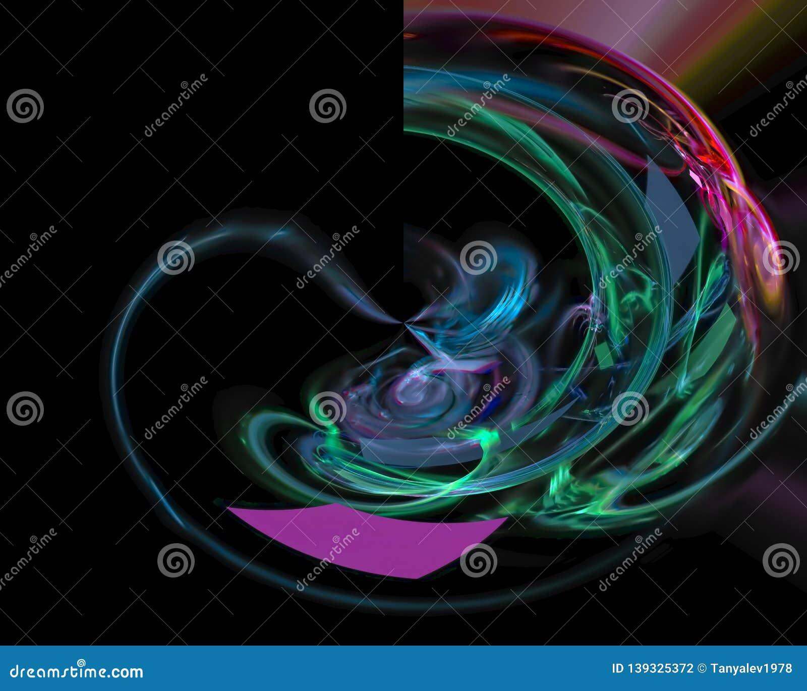 Digital abstract fractal wallpaper power , fantasy template design dark, artistic style shape