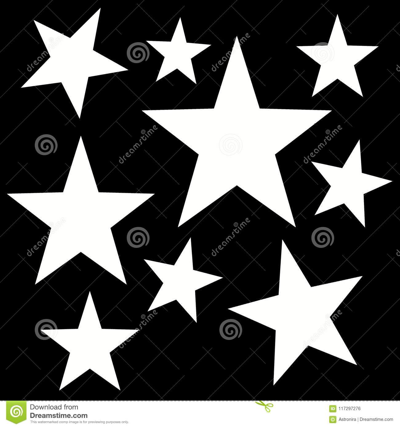 Digital Abstract Pattern With A Five Pointed Stars