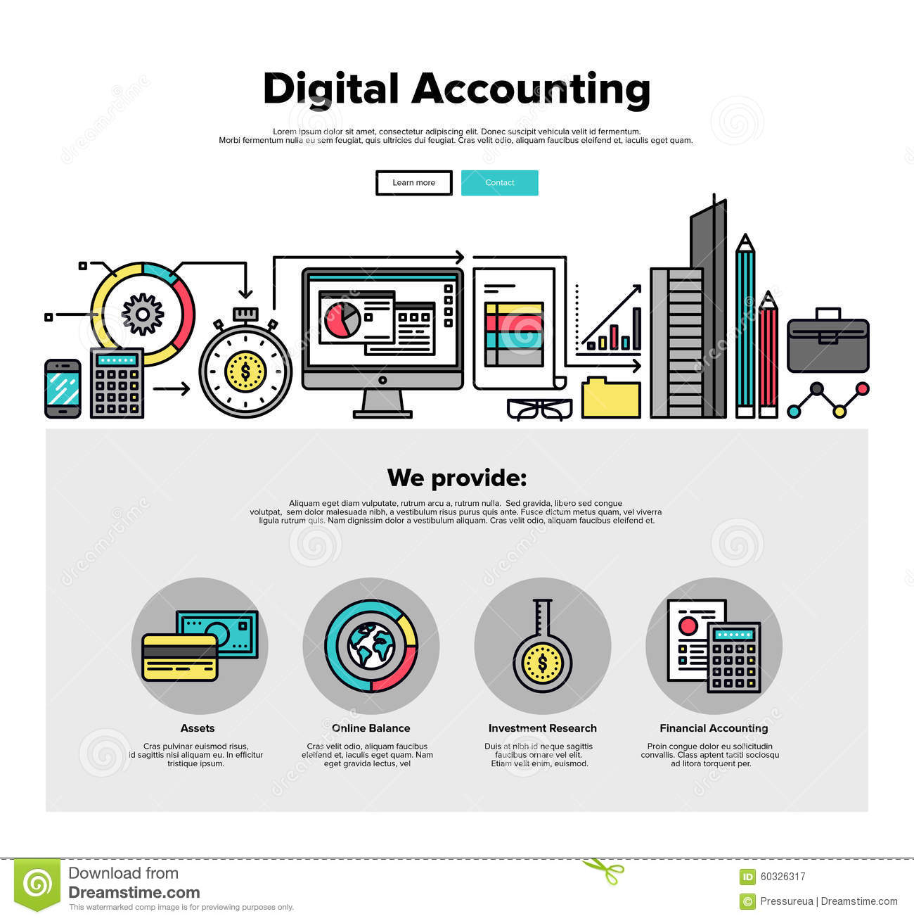 web design template with thin line icons of digital accounting service ...: http://www.dreamstime.com/stock-illustration-digital-accounting-flat-line-web-graphics-one-page-design-template-thin-icons-service-investment-research-business-data-image60326317