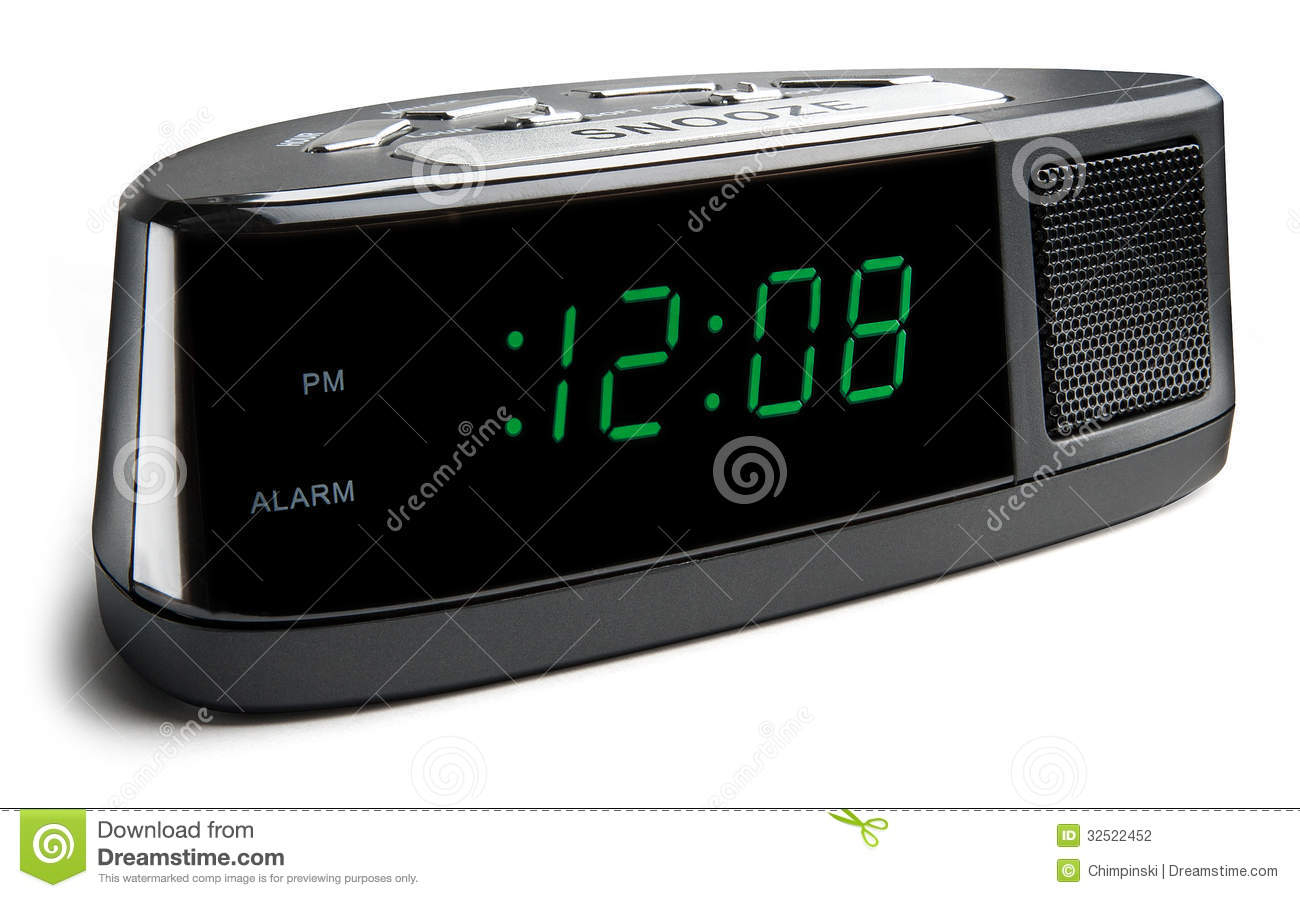 Digital Alarm Clock Stock Photography - Image: 32522452