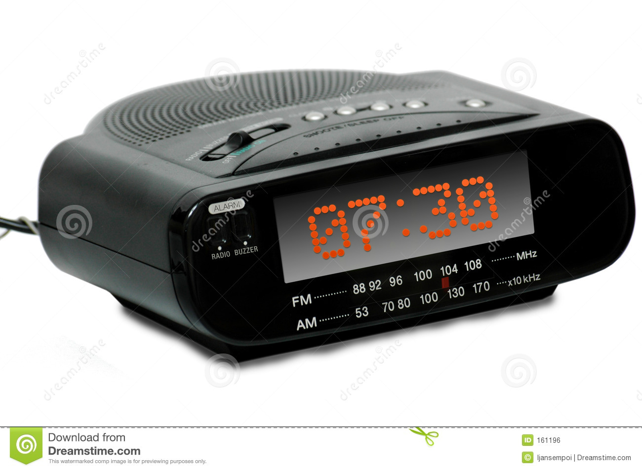 digital alarm radio clock royalty free stock image image. Black Bedroom Furniture Sets. Home Design Ideas
