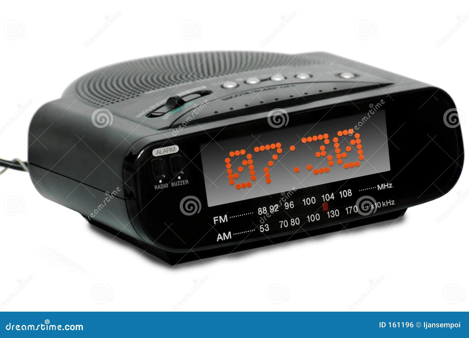digital alarm radio clock royalty free stock image image 161196. Black Bedroom Furniture Sets. Home Design Ideas