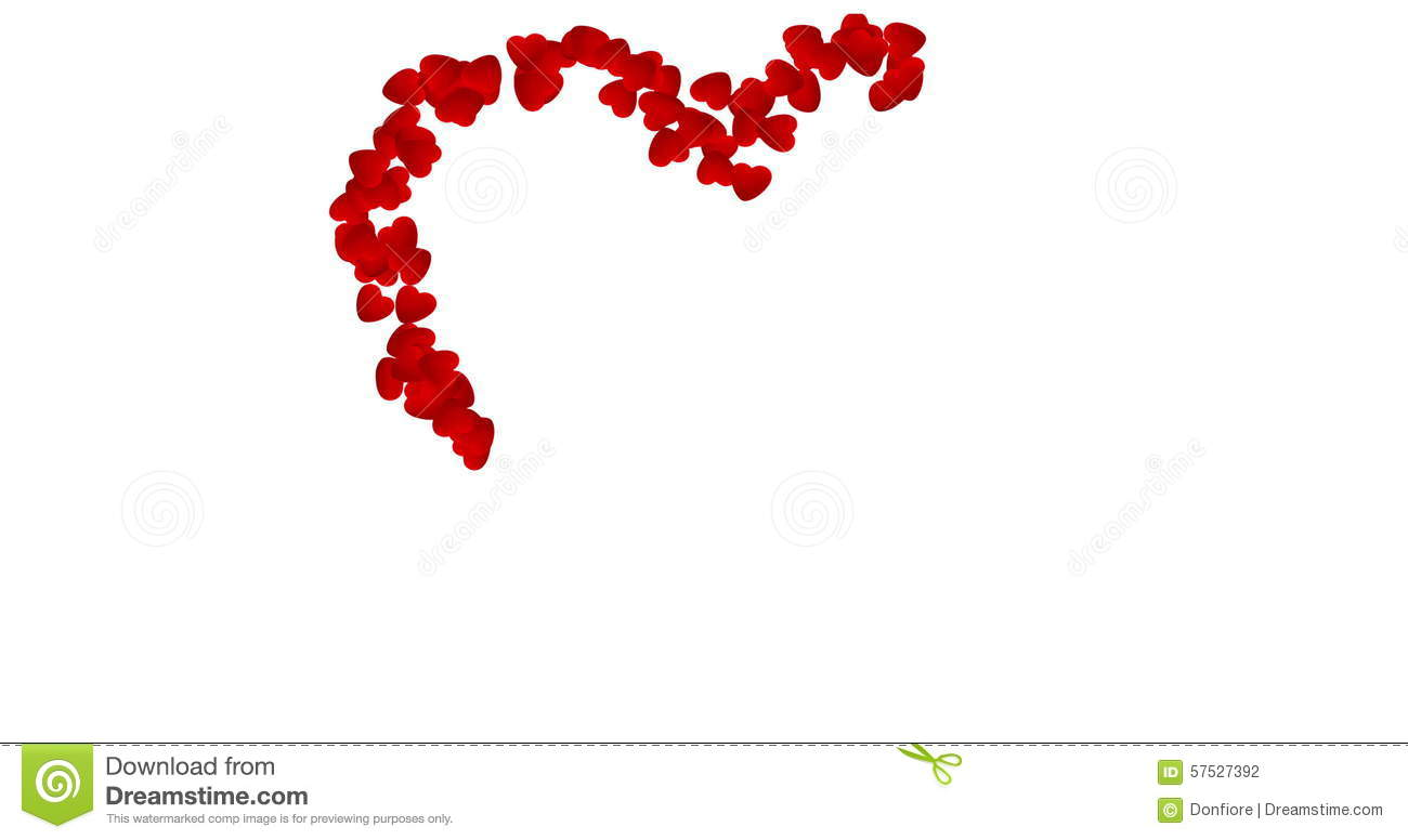 Digital Animation Heart Made By Red Hearts On White Background Valentine Day And Love Stock Footage
