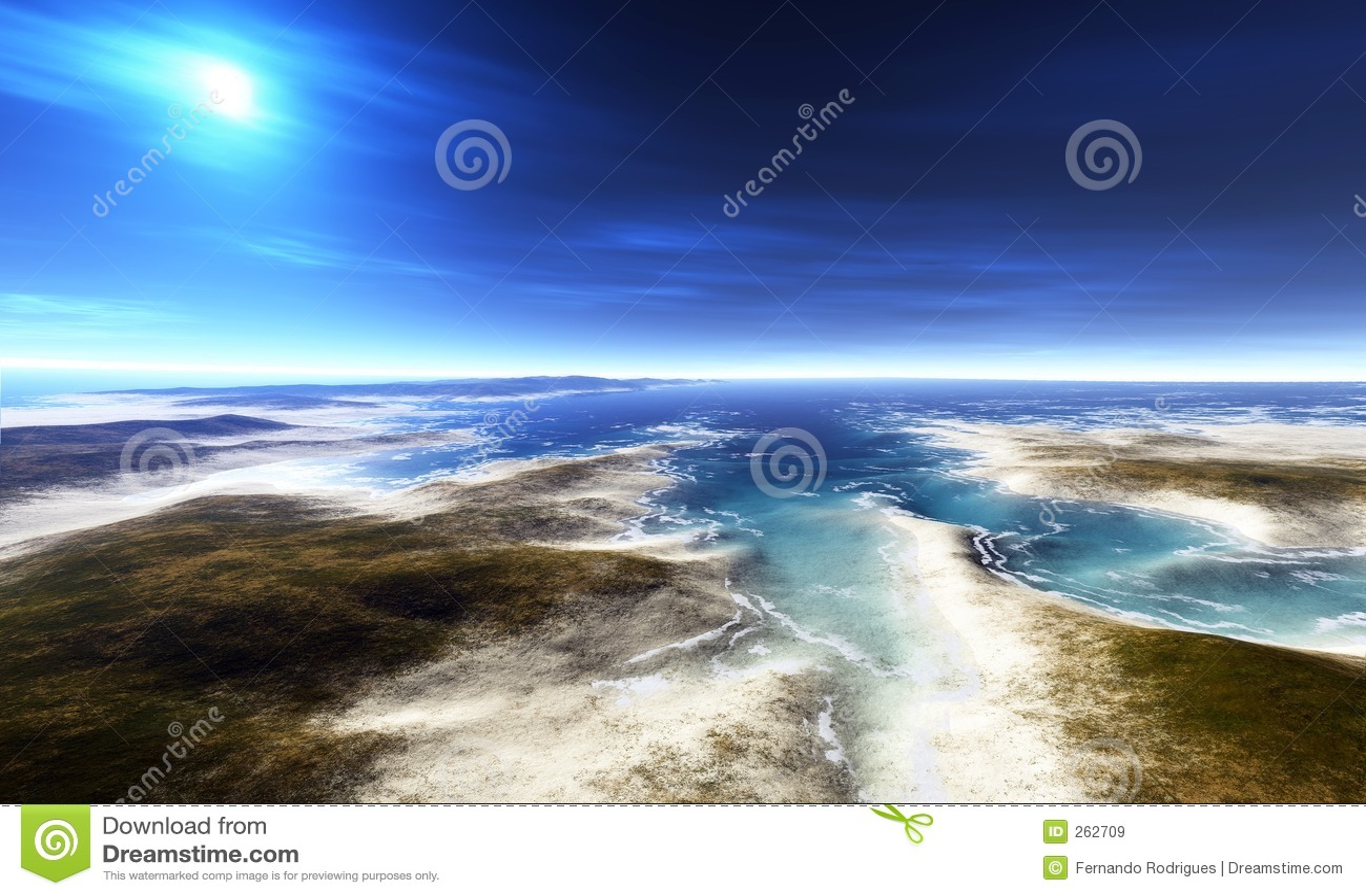 Digital-Ansicht eines Strandes