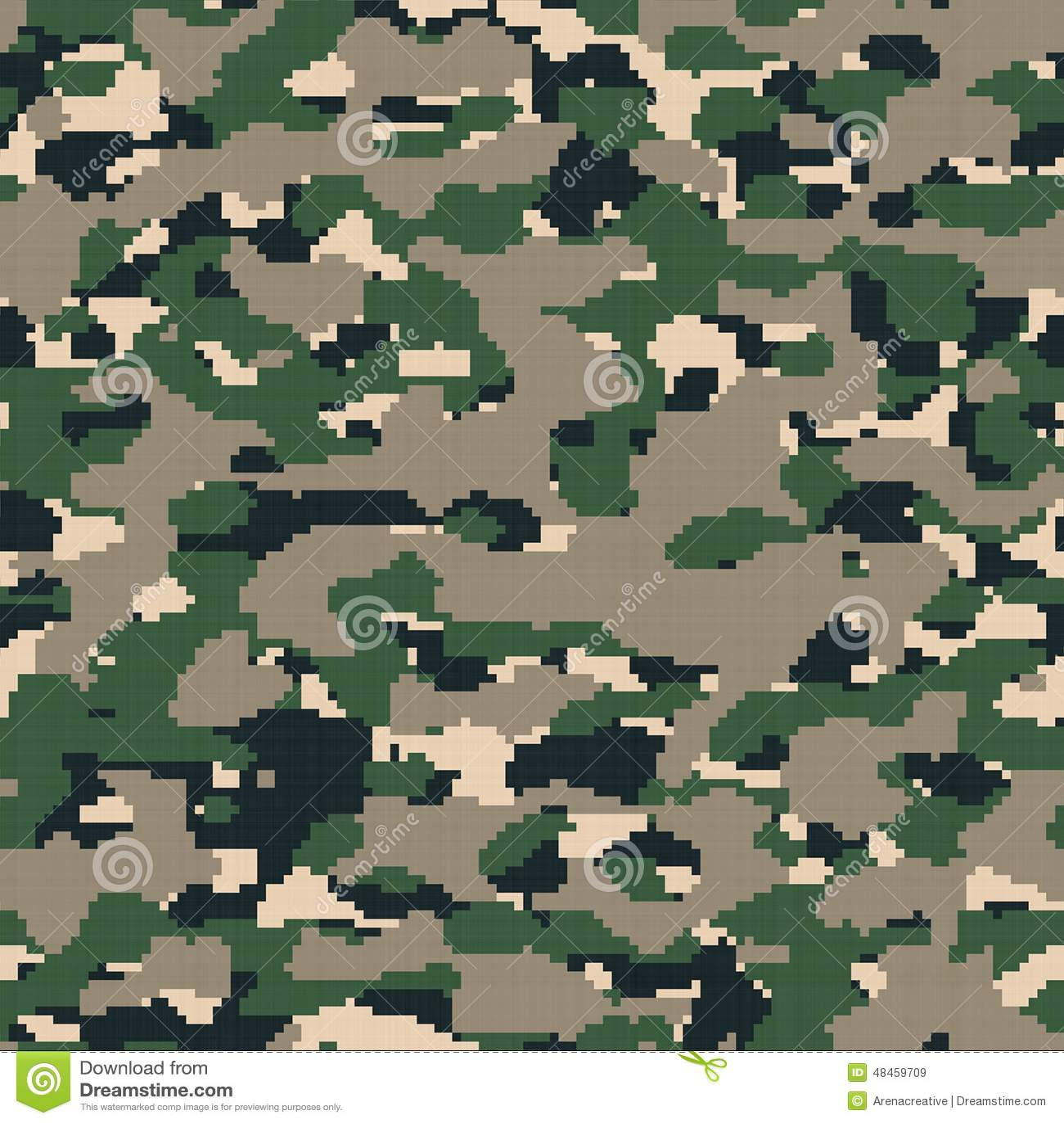 Digital Army Camouflage Stock Illustration Illustration