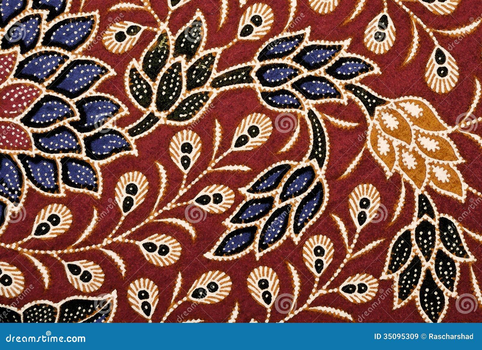 Digital Art Batik Floral Royalty Free Stock Images - Image