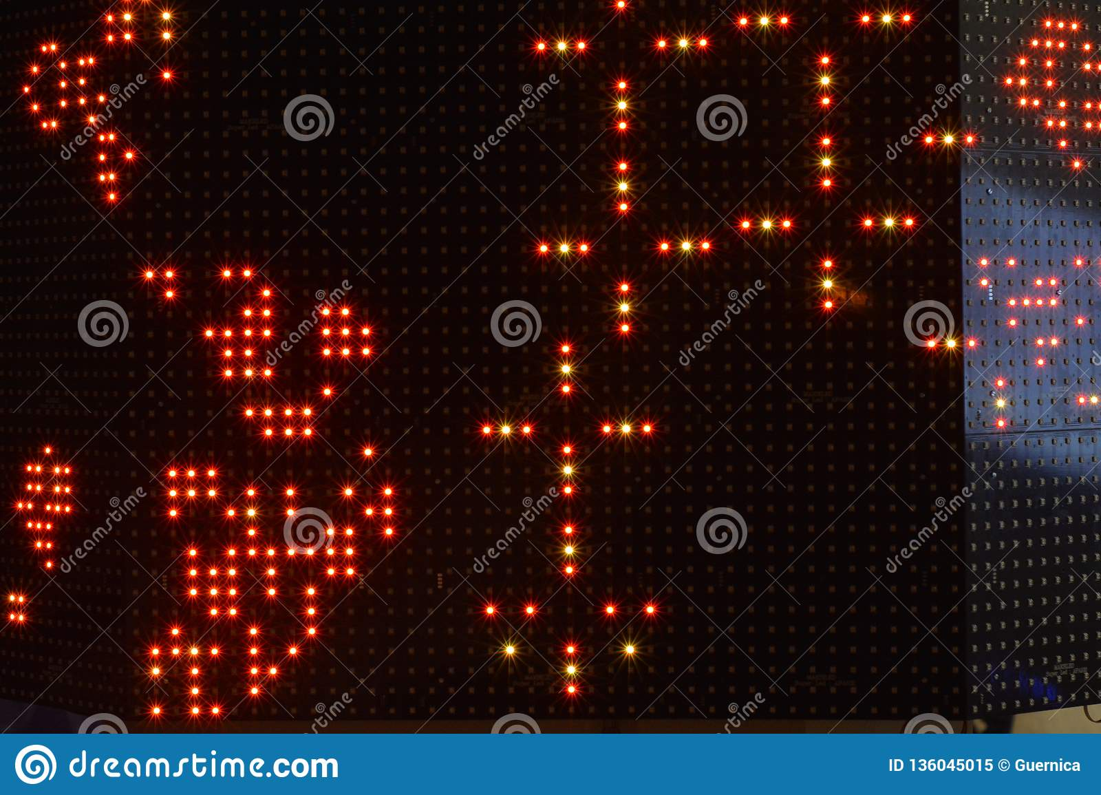Digital Art Binary Bokeh Background Karlsruhe Stock Image