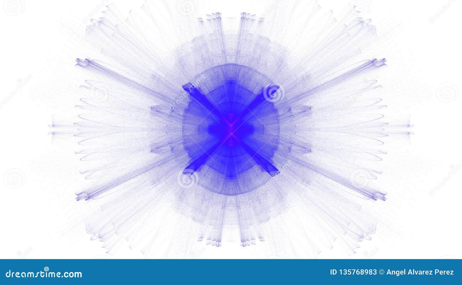 Digital art design blue vibrant on white background