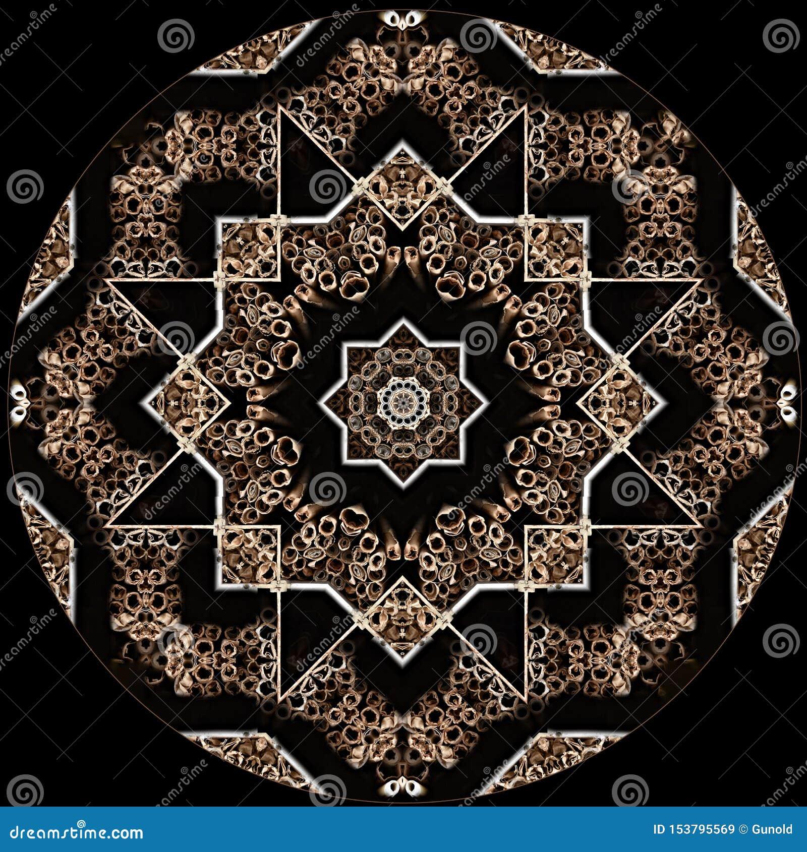 Digital art design star texture on black