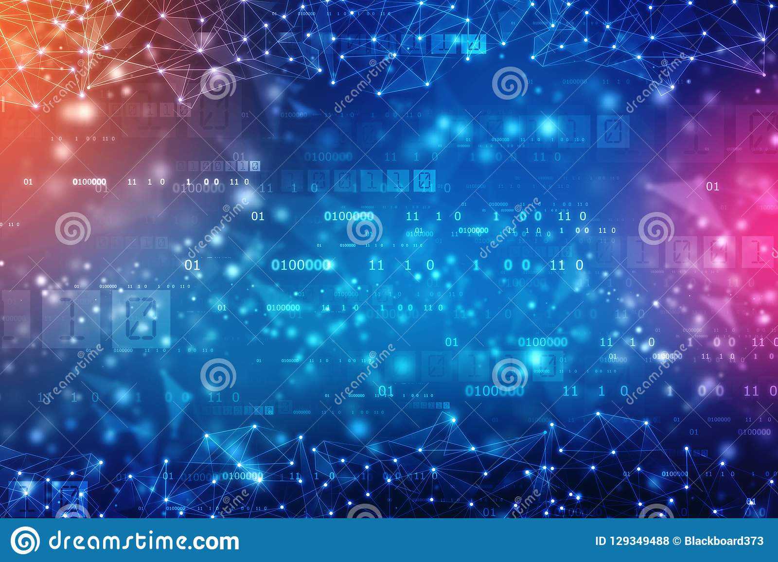 Digital Abstract technology background, cyber space background, futuristic background