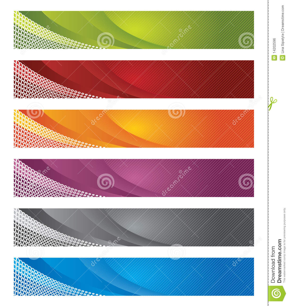 Download Digital Banners In Gradient And Lines Stock Vector - Illustration of color, copyspace: 14202596