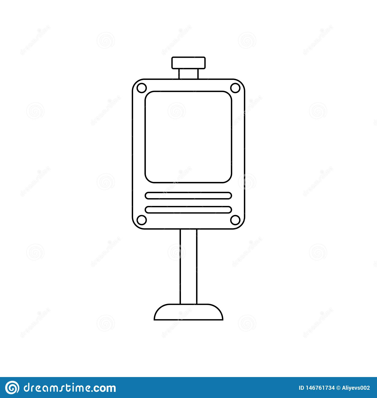 Digital Billboard Colored Icon  Element Of Road Signs And