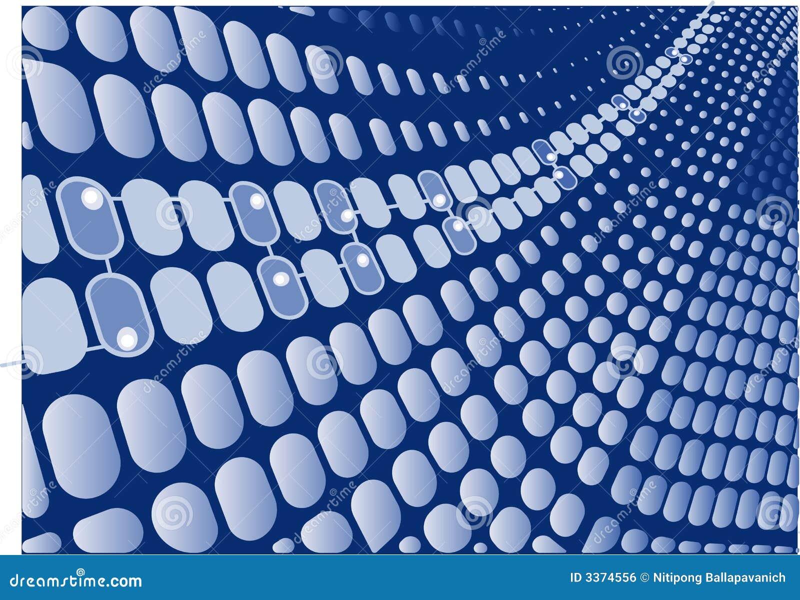 Digital Blue Wave Retro Vector Royalty Free Stock Image - Image ...