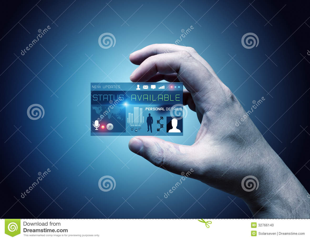 Digital Business Card Stock Photo - Image: 32766140: www.dreamstime.com/stock-photo-digital-business-card-hand-holding...