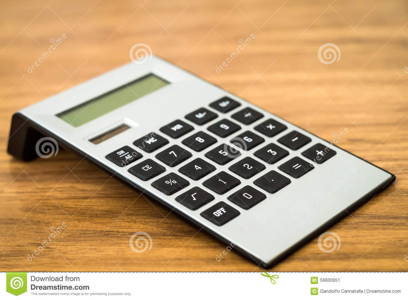 digital calculator on table stock image image of finance closeup