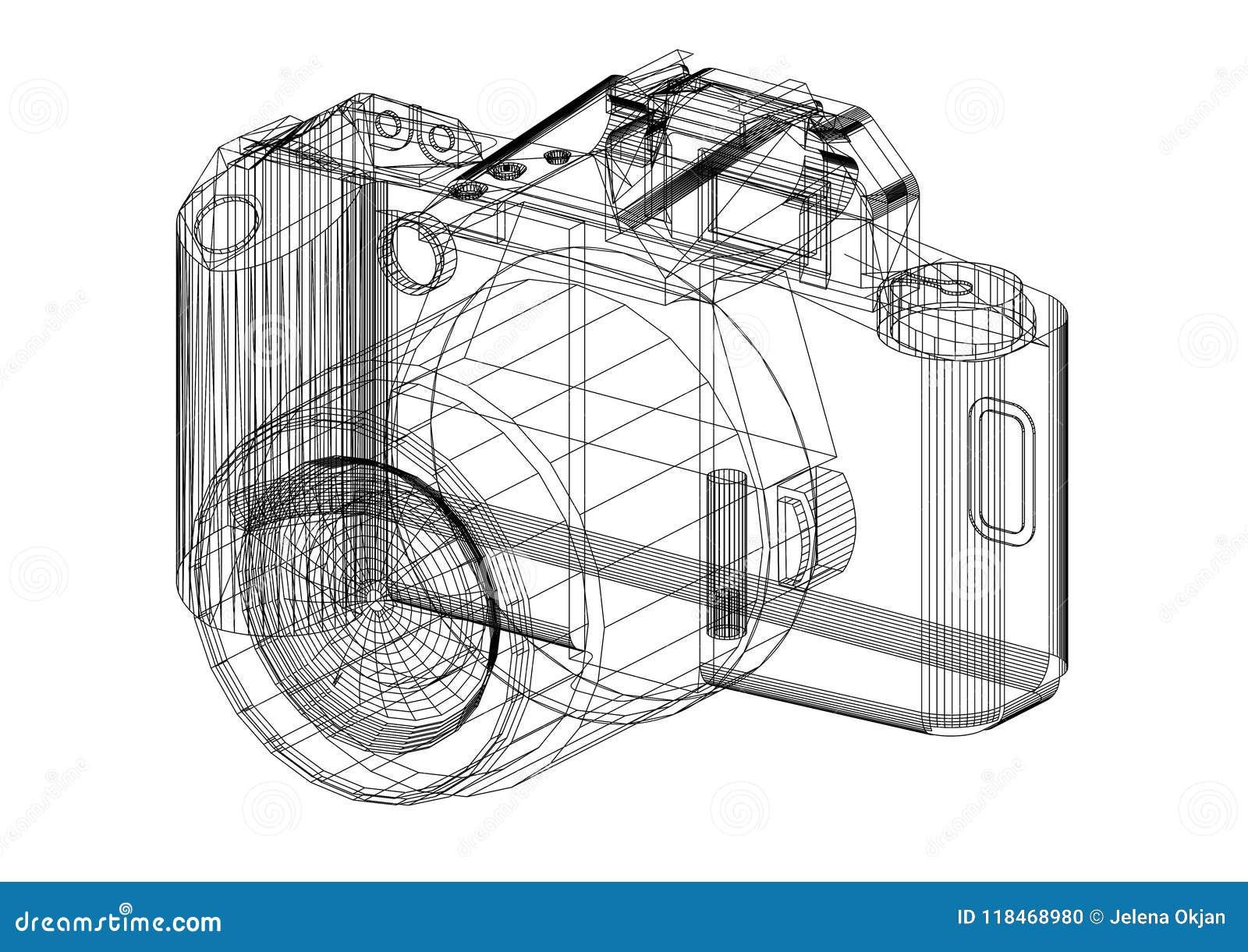 Digital camera sketch drawing stock images 124 photos malvernweather Images