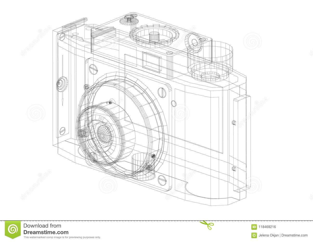Digital camera architect blueprint stock illustration illustration download comp malvernweather Choice Image