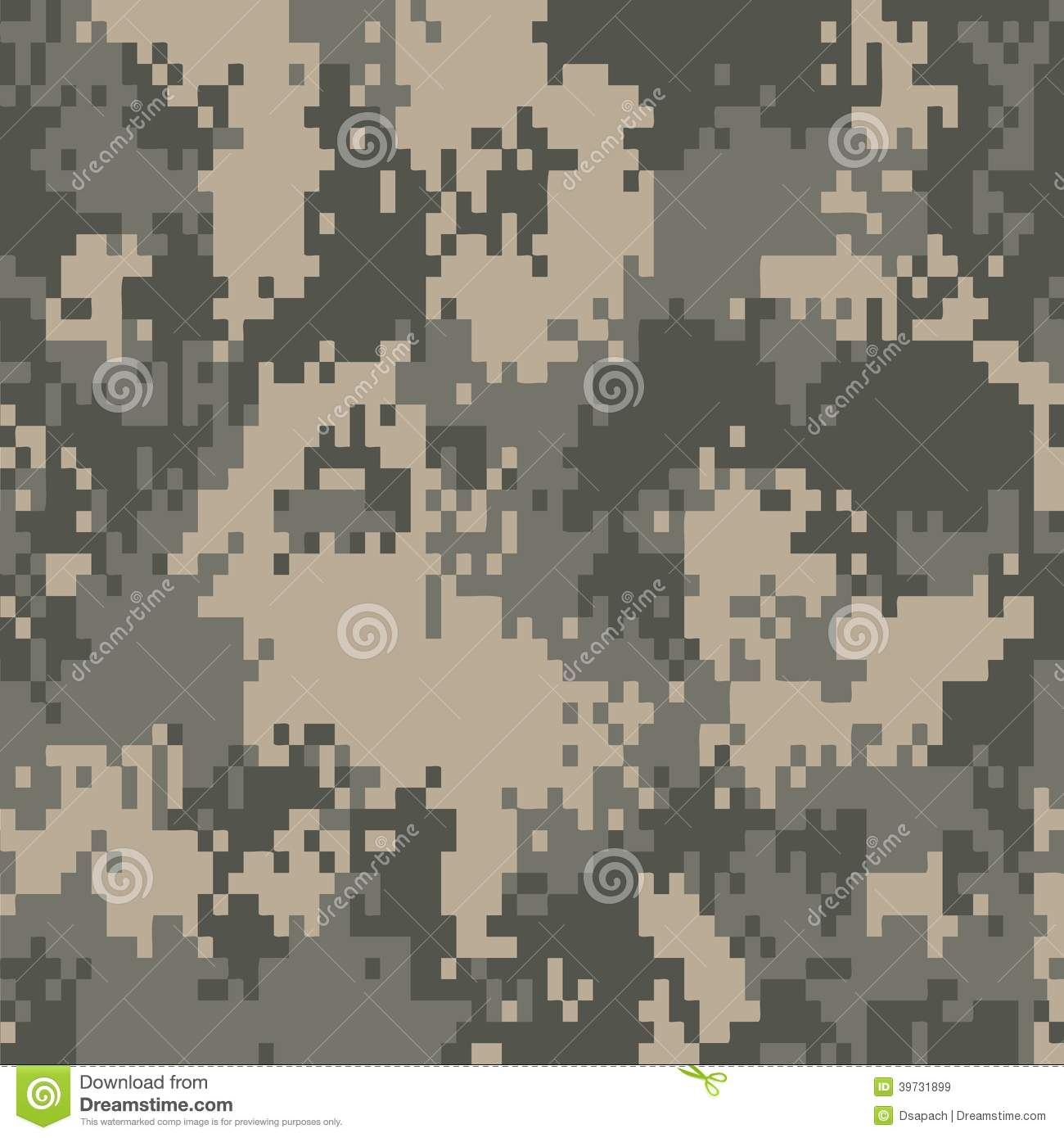 Digital Camo Pattern Stock Vector Image 39731899