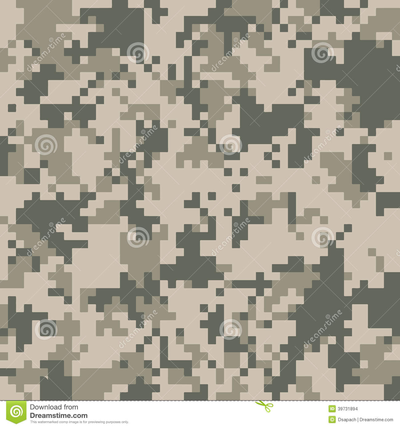 Digital Camo Texture Stock Vector Illustration Of Fabric
