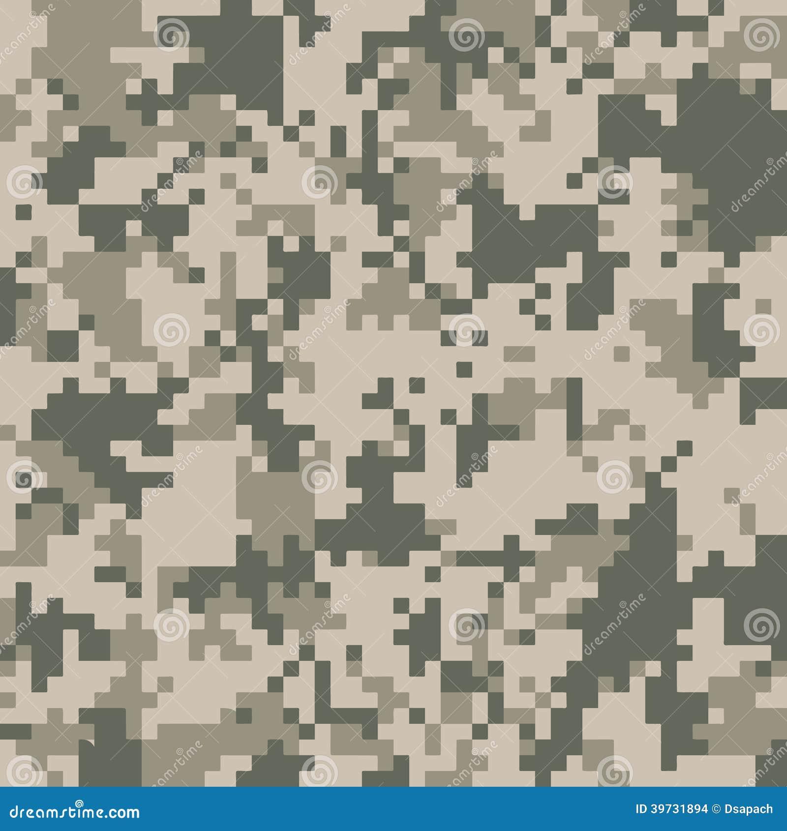 Digital Camo Texture Stock Vector Illustration Of Fabric
