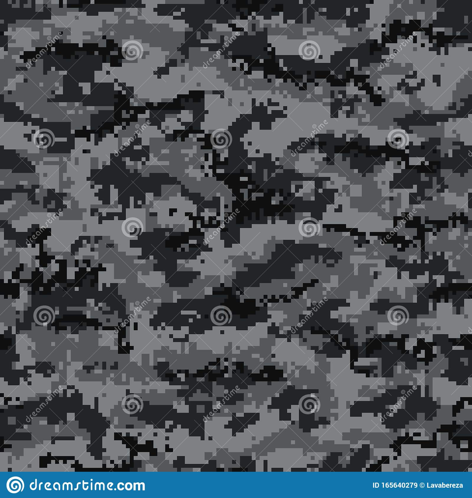 digital camouflage seamless pattern, black and gray. vector stock vector -  illustration of fabric, soldier: 165640279  dreamstime.com