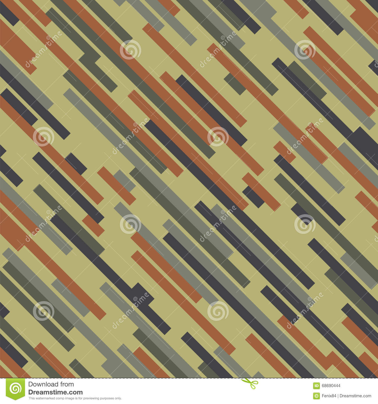 Digital camouflage. Wood color. Seamless vector pattern.