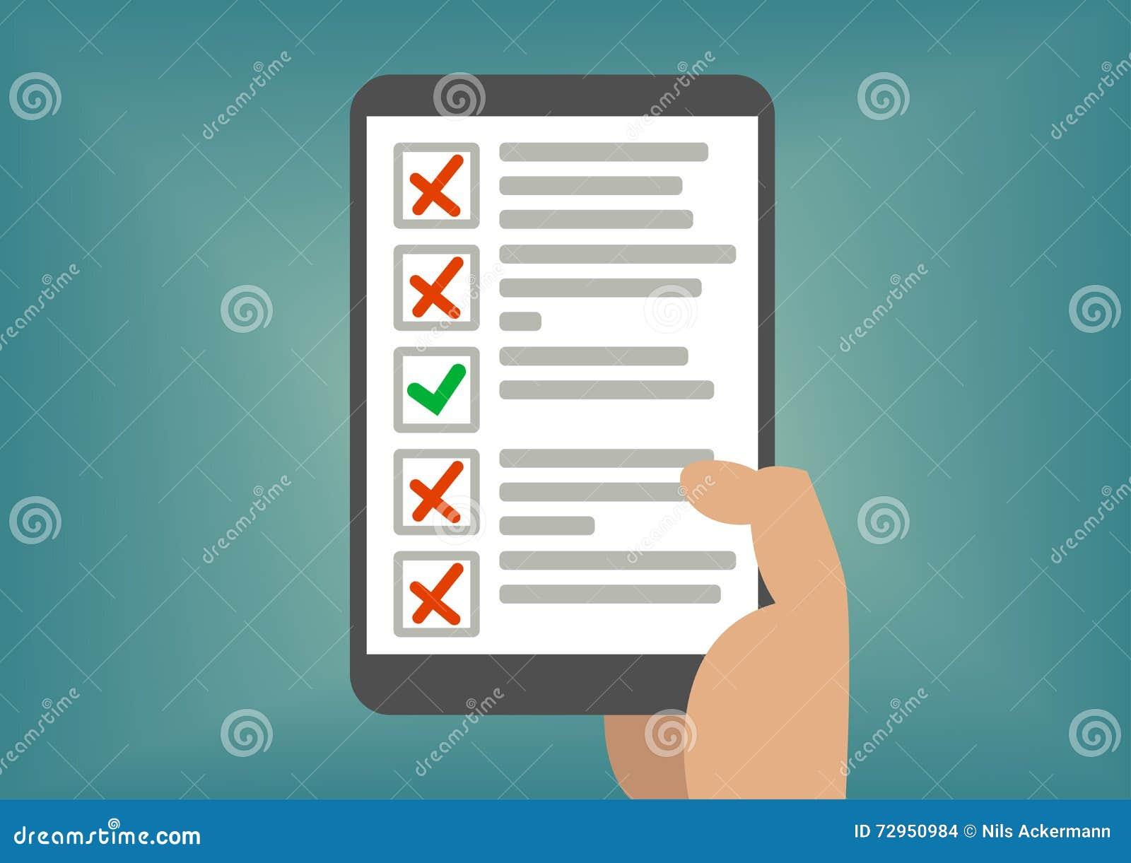 digital checklist or todo
