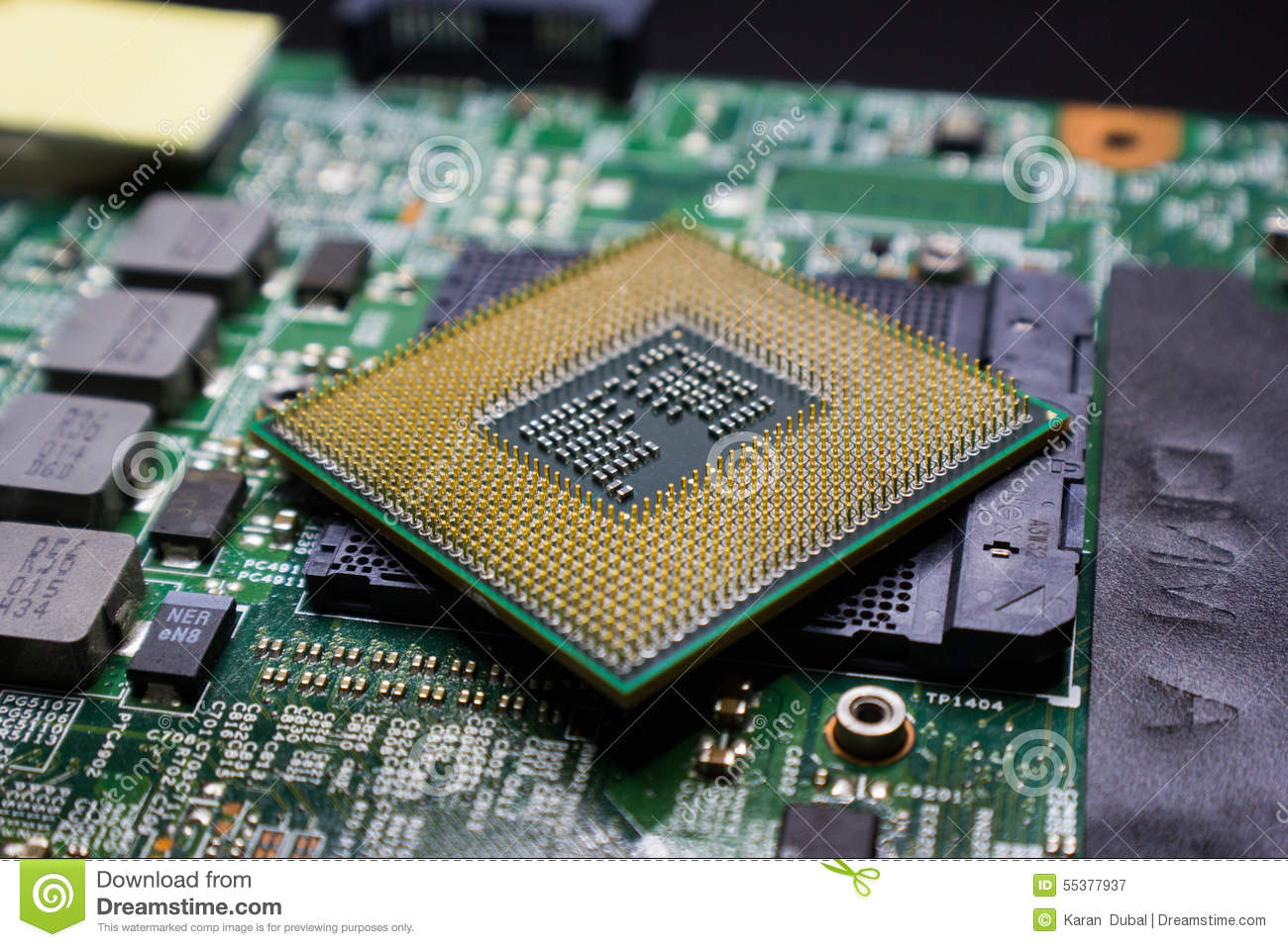 Electronic Integrated Circuit Chip Royalty Free Stock Photos Image