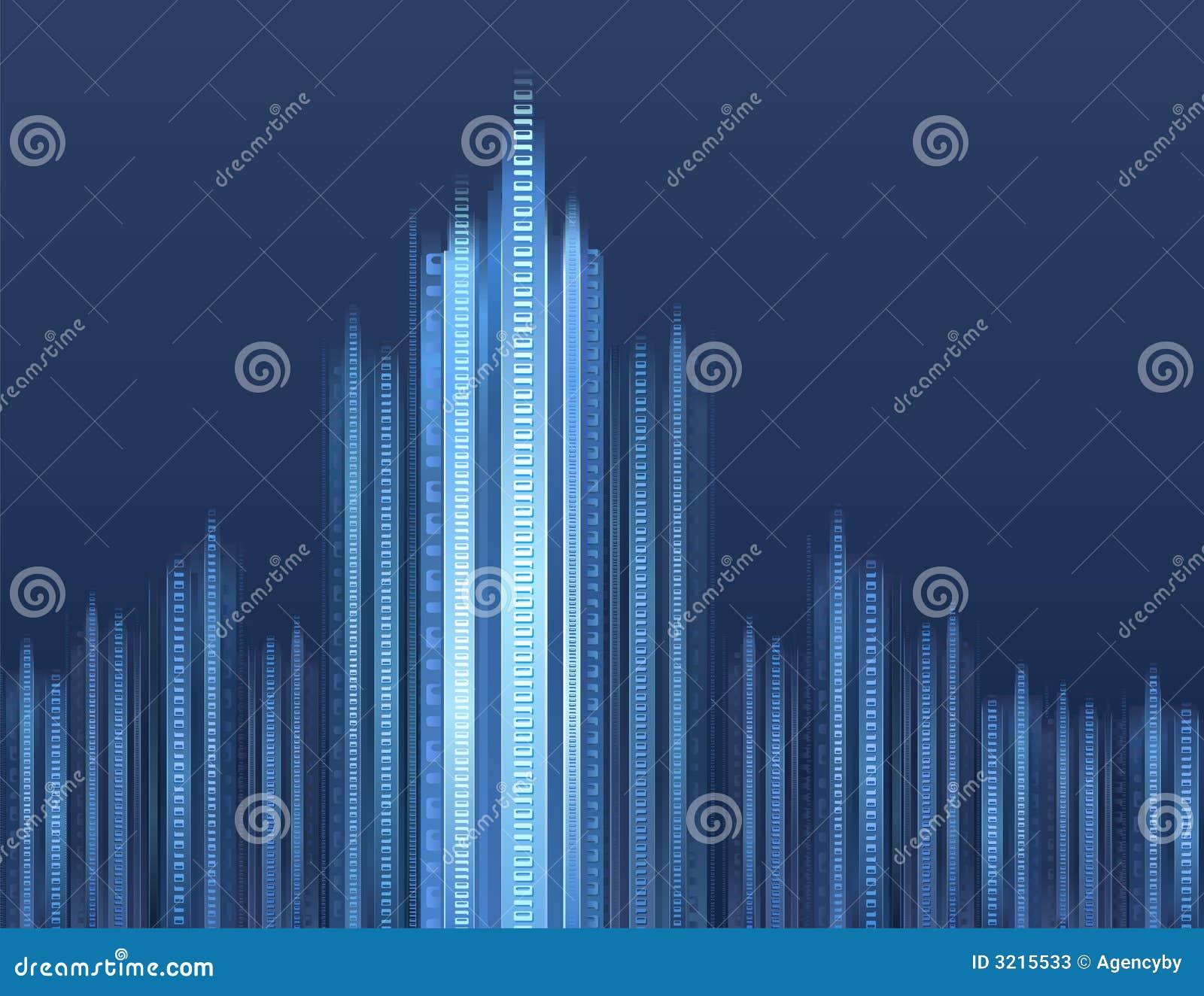 Digital Cityscape Stock Photos