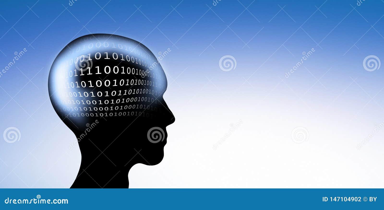Digital-Code im Kopf