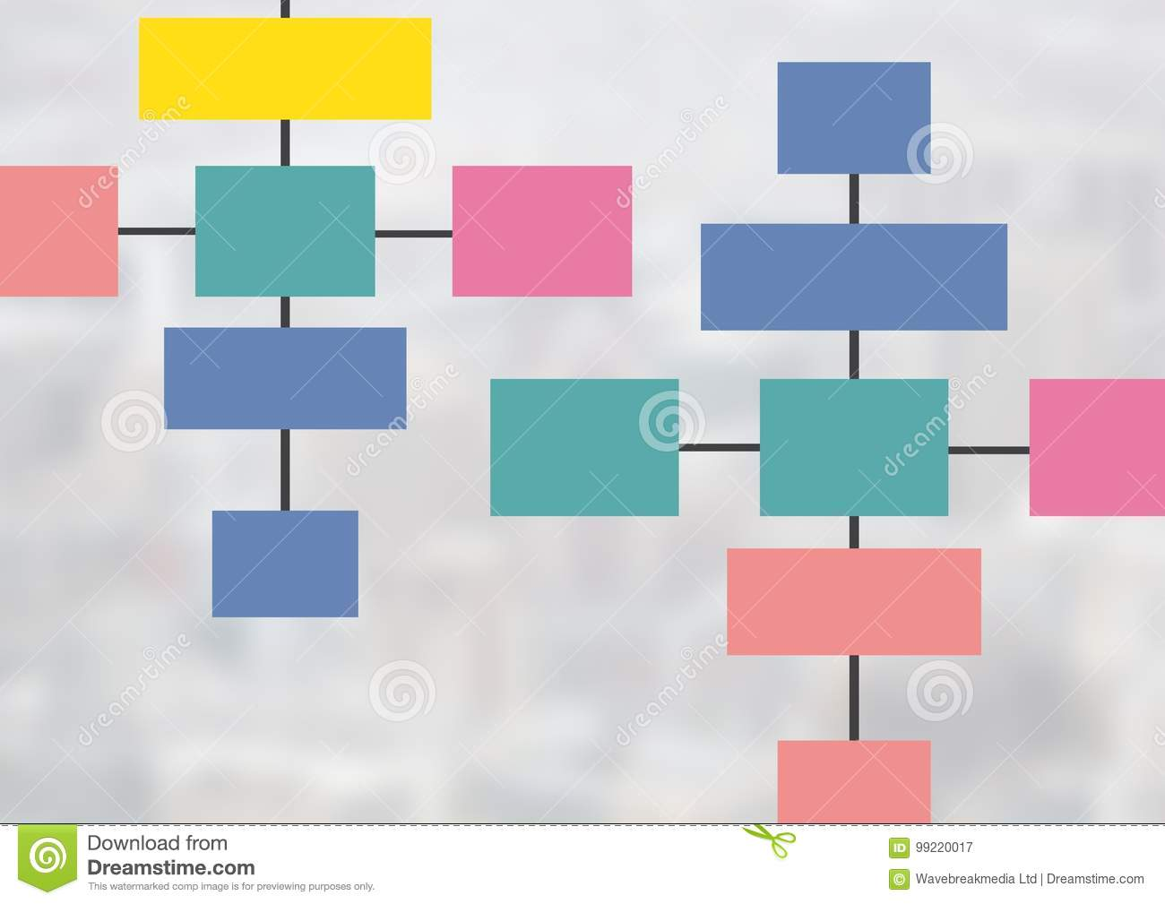 Colorful Mind Map Over Bright Background Stock Illustration ...