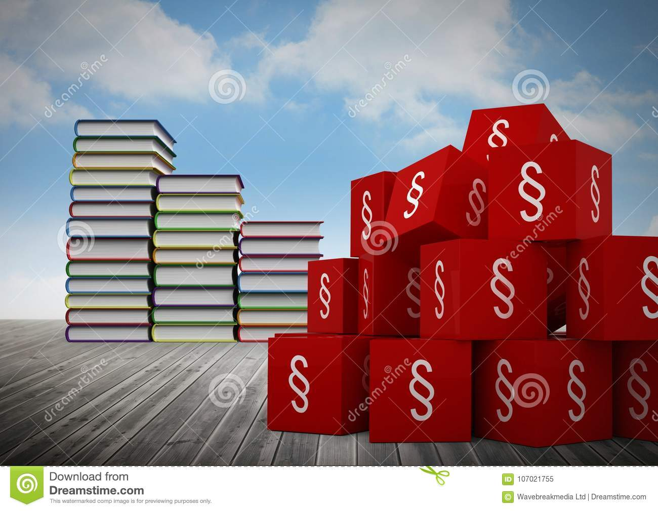 3d section symbol icons and book towers stacked stock illustration 3d section symbol icons and book towers stacked buycottarizona Choice Image