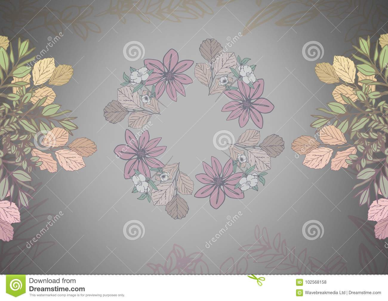 Grey background with pretty flower patterns stock illustration download grey background with pretty flower patterns stock illustration illustration of color image mightylinksfo