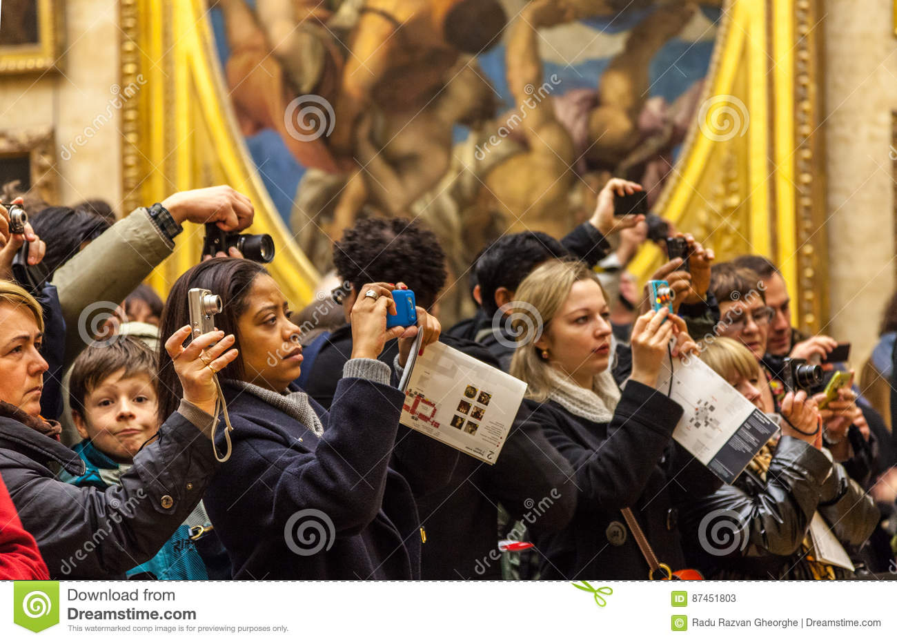 Digital Crowd editorial stock photo  Image of exhibition