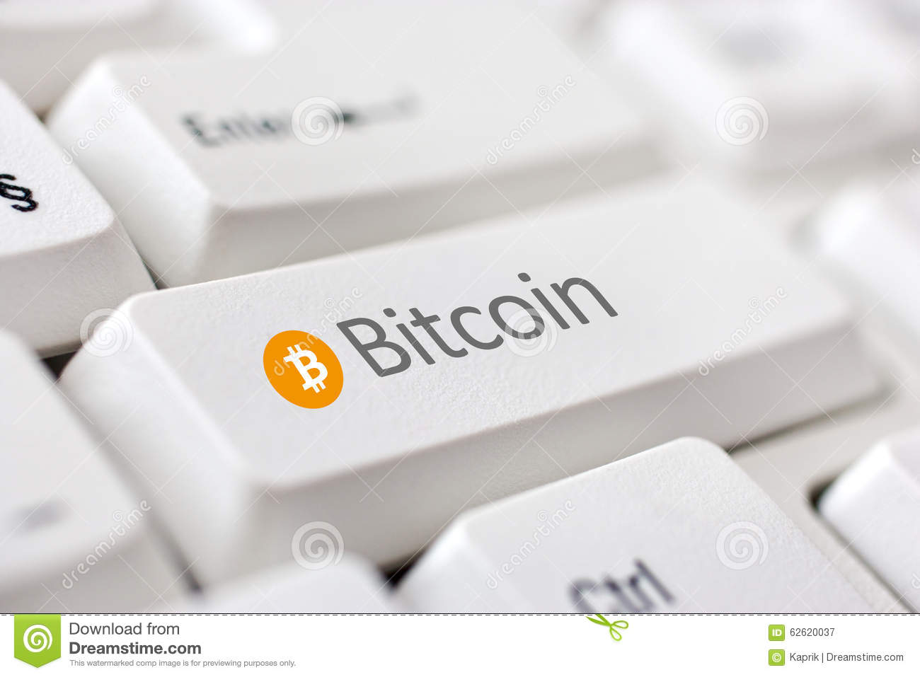 Digital Currency Bitcoin Stock Photo - Image: 62620037