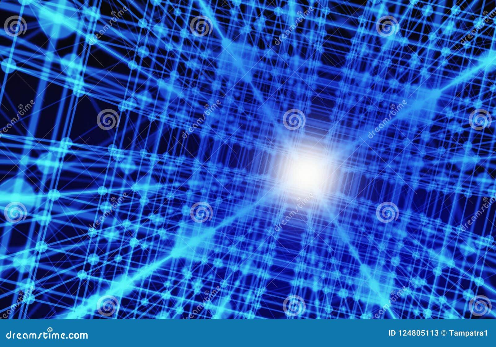 Digital-Daten- und Connections-Dreiecklinien und -bereiche I