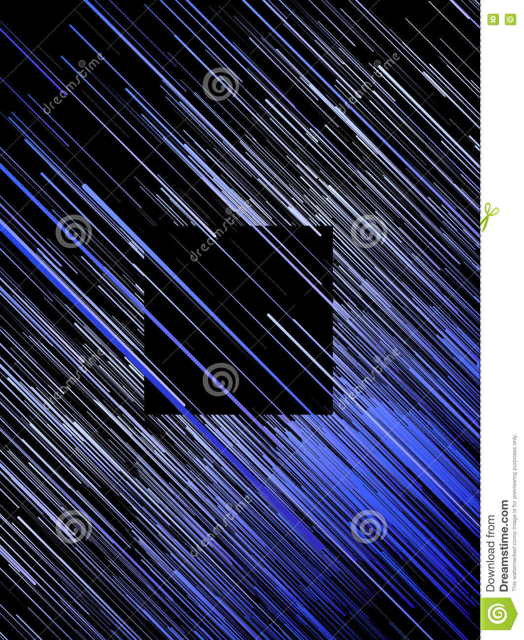Digital diagonal blue lines abstract background. 3d rendering