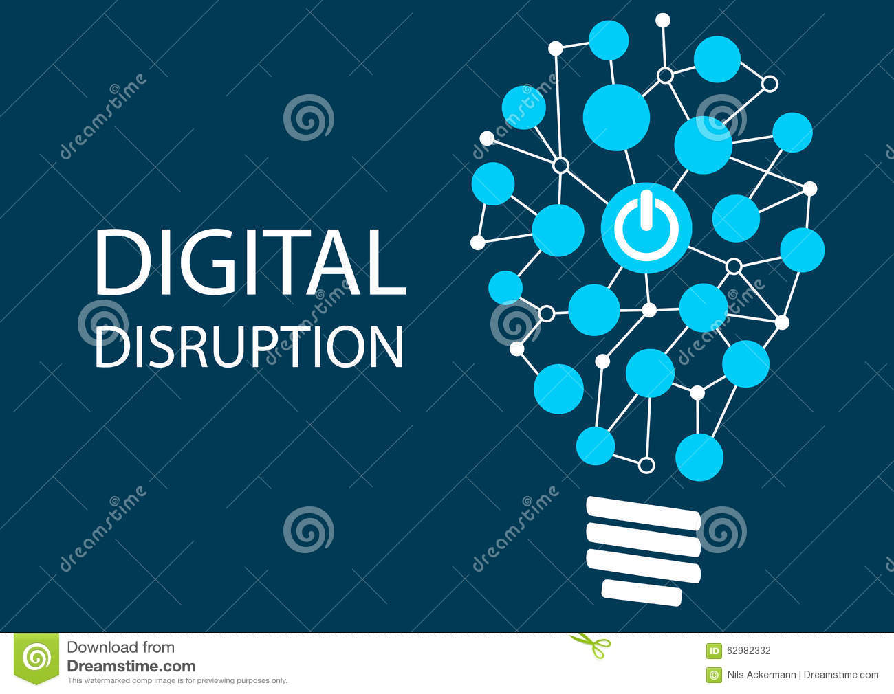 Digital disruption concept. Vector illustration background for innovation IT technology