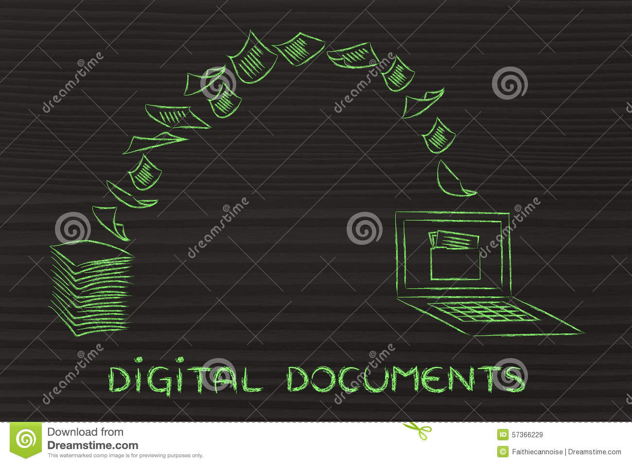 Digital Documents Scanning Paper And Turning It Into Data