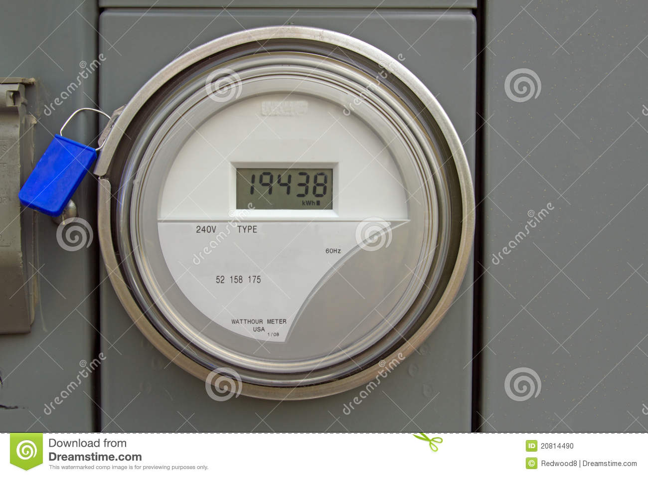 Digital Electric Meter : Digital electric power meter stock photo image