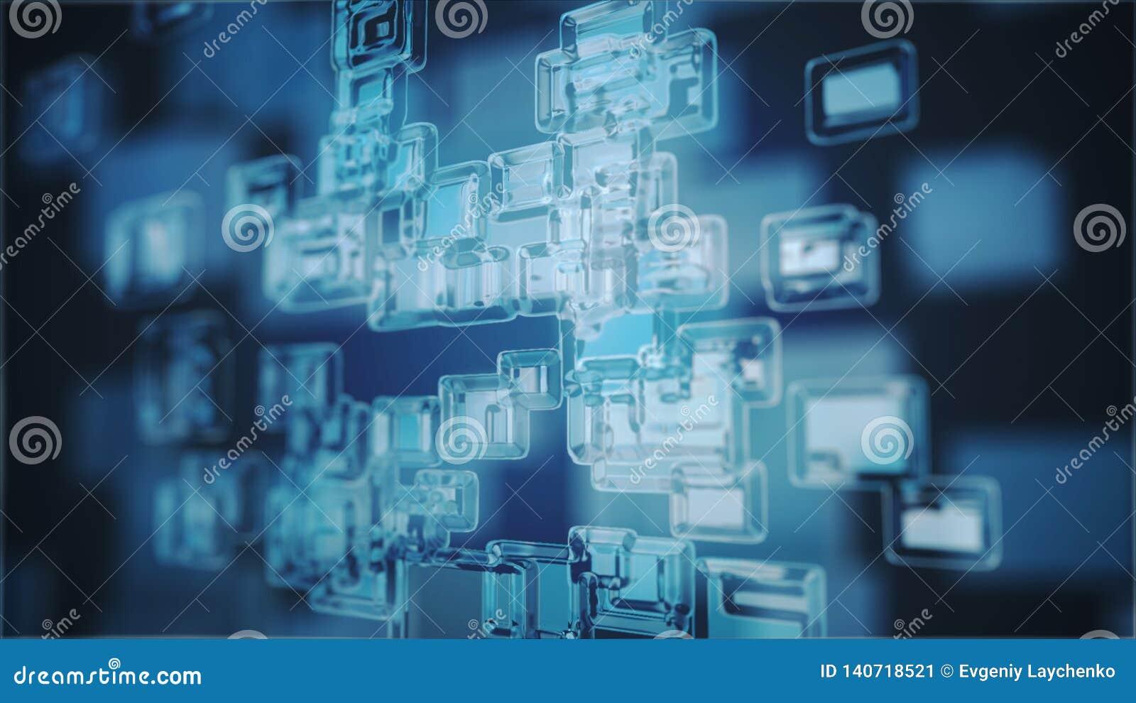 Digital erzeugtes Bild des Blaulichts und der Streifen, die sich schnell bewegen