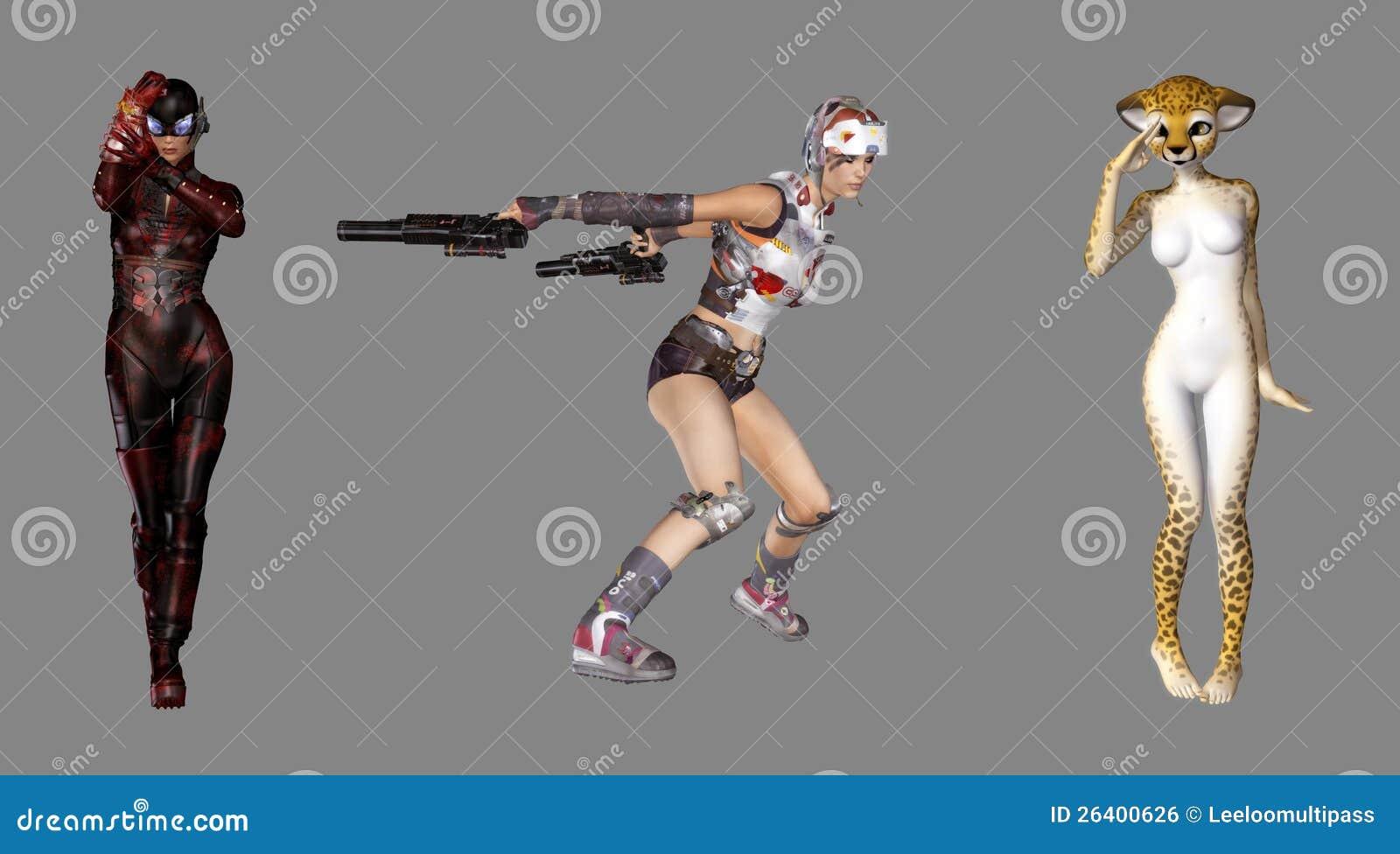 Digital Fantasy Characters